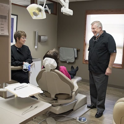 Norfolk Family Dentistry - Image of Dr. Karmazin speaking to a patient about sedation